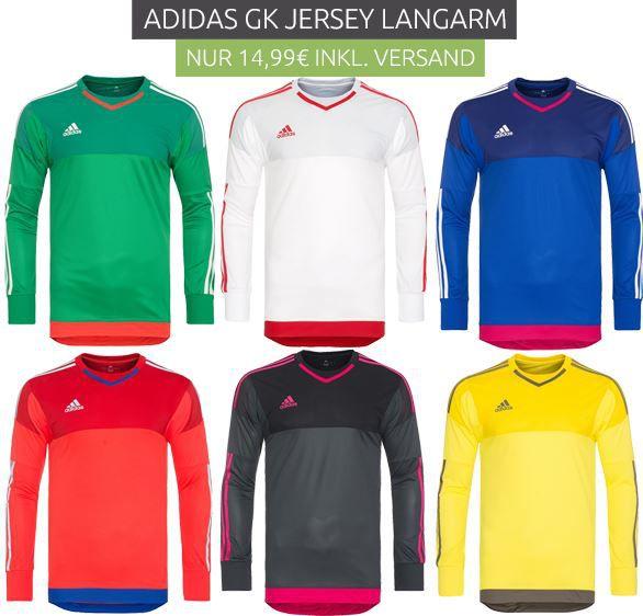 adidas GK Sport Longshirts   Torhüter Shirts für je 14,99€