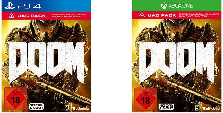 bla DOOM UAC Pack für PC ab 14,99€ oder Xbox One und PS4 ab 17,99€