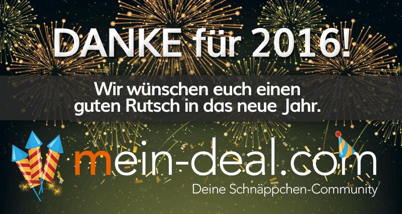 DANKE für 2016 und einen guten Rutsch ins neue Jahr!