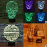 3D LED Lampen mit visuellem Effekt ab 11,29€