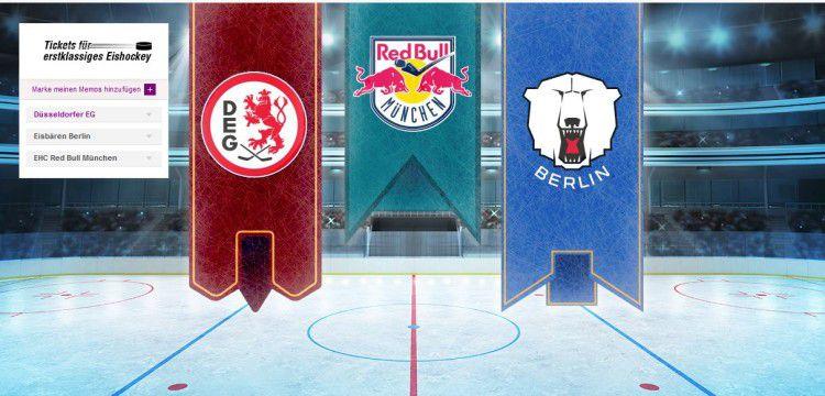 Eishockey Tickets für Düsseldorf EG, EHC Red Bull München oder Eisbären Berlin bei Vente Privee