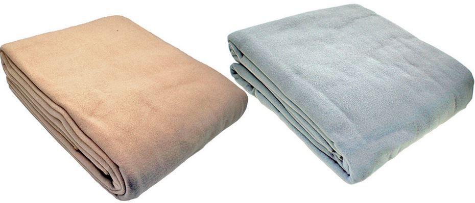große Fleece Decke Fleecedecke 210 x 240 cm verschiedene Farben für 14,95€
