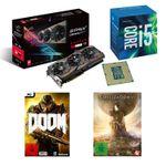 Intel AMD Feiertagsdeal – Core i5-6600K + ASUS RX480 STRIX + Civilization VI + DOOM für 499€ (statt 601€)