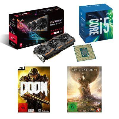 Intel AMD Feiertagsdeal   Core i5 6600K + ASUS RX480 STRIX + Civilization VI + DOOM für 499€ (statt 601€)