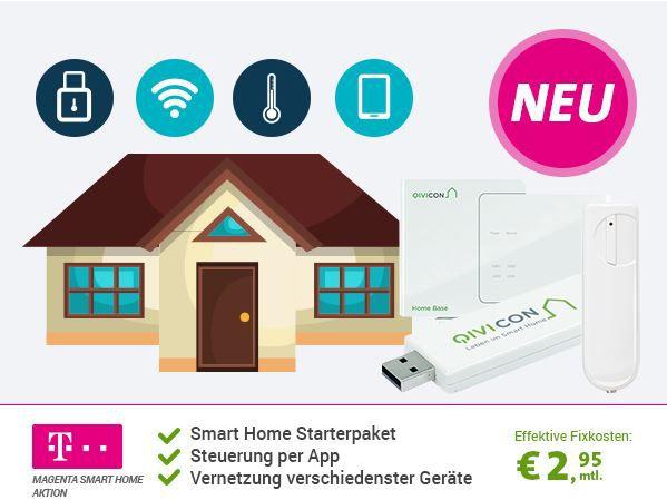 Magenta Smart Home Aktion   Alarm . Vernetzungs Basis + 2 Fensterkontakte und Stick, statt 219€ für eff. 2,50€ mtl.