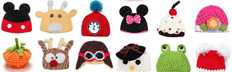 Wintermütze für Kinder mit verschiedenen Motiven ab 2,38€
