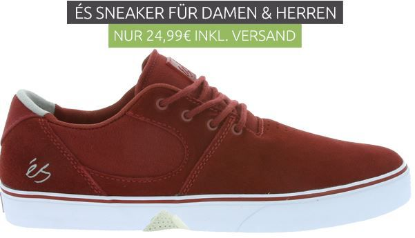 éS Sneaker 2499€ éS Sneaker Herren Echtleder Sneaker für 24,99€