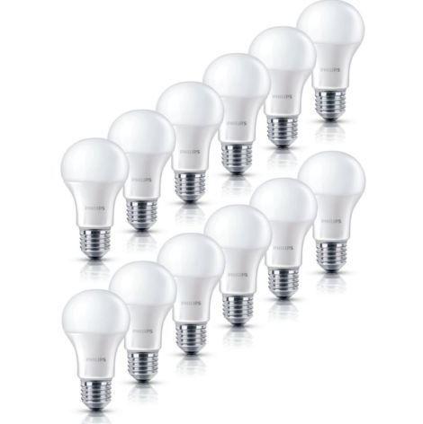 Philips LED Lampe  E27 mit 6 W (40Watt)   12er Pack für 23,99€