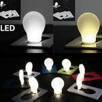 Ultradünne ausklappbare LED-Leuchte im Glühbirnendesign für 0,09€