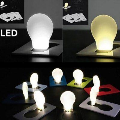 Ultradünne ausklappbare LED Leuchte im Glühbirnendesign für 0,09€
