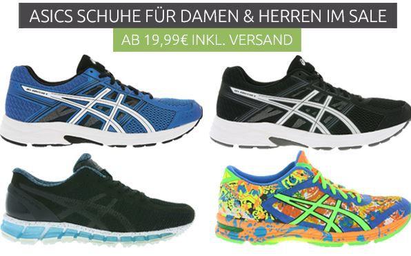 Asics Sale   Laufschuhe/Sneaker ab 19,99€