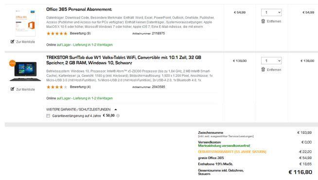 Asus Tablet Fehler Ausverkauft! TrekStor SurfTab duo W1   10 Zoll Windows Tablet + Office 365 für 116,80€ (statt 187€)