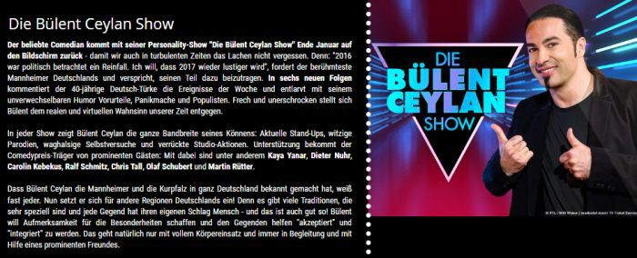 """Freikarten für """"Die Bülent Ceylan Show"""" an verschiedenen Terminen im Februar   vorbei"""