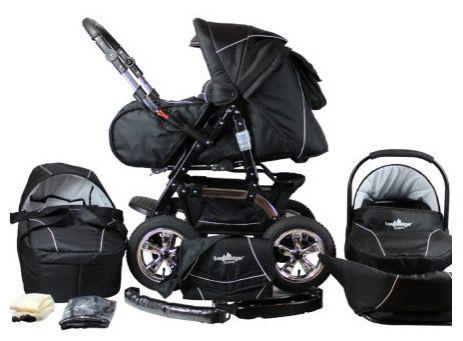 Bergsteiger Milano Kombi Kinderwagen + Babyschale & viel Zubehör für 291,19€ (statt 334€)