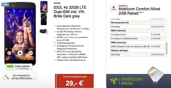 Vodafone Comfort Allnet Flat mit 2GB + Teufel BT Lautsprecher + Smartphone + VR Brille für 24,99€ mtl.