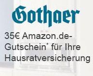 Gothaer Hausratversicherung + 35€ Amazon.de Gutschein   Bonus Deal!