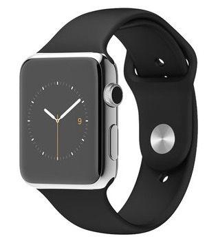 Apple Watch 42mm (1st Gen) aus Edelstahl mit Sportarmband für 235,90€