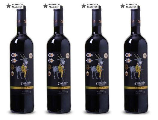12 Flaschen El Cabrón Digno Reserva Rotwein ab 40,83€   5 fach mit Gold prämiert!