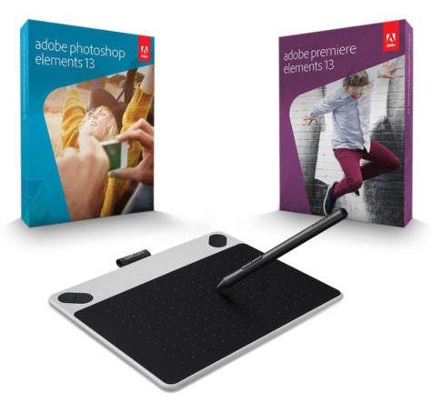 Wacom Intuos Pen S Grafik Tablet + Photoshop/Premiere Elements 13 für 63,95€ (statt 126€)