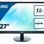 AOC E2770SH – 27 Zoll Full HD Monitor mit 1ms für 149€ (statt 169€)