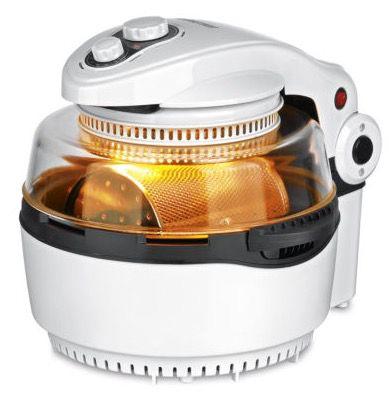 GOURMETmaxx Halogen und Heißluftofen mit Frittierkorb und Drehspieß für 80,99€ (statt 136€)