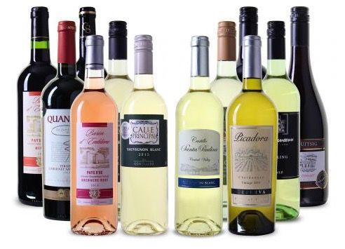 12 Flaschen Wein aus 8 verschiedenen Ländern für 48€