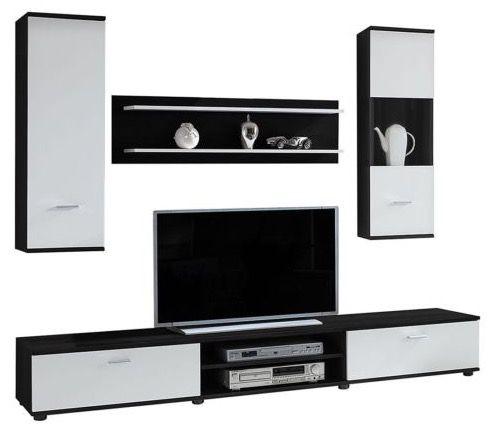 mooved Wohnwand Grinda in Schwarz/Weiß für 129,99€ (statt 180€)