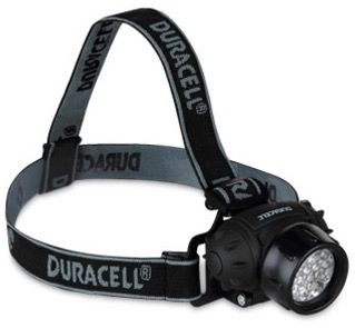 Duracell 19 fach Power LED Stirnlampe + 2 Gratis Artikel für 5,97€