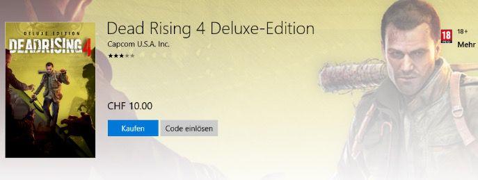 Preisfehler? Dead Rising 4 Deluxe Edition (PC) für 9,53€ (statt 60€)   genau lesen!