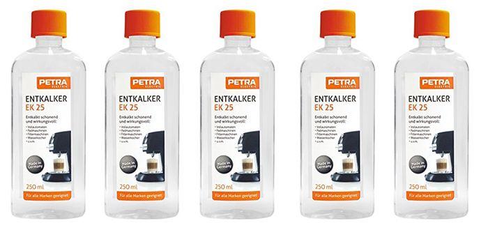 Schnell! 5er Pack Petra Electric EK 25 Universal Entkalker (Kaffeemaschinen) für 6,94€ (statt 15€)
