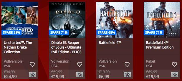Bildschirmfoto 2017 01 20 um 13.02.18 Sale im Playstation Network + 10% Rabatt für PS+ Mitglieder   z.B. God of War 3 Remastered ab 9,49€ (statt 25€)