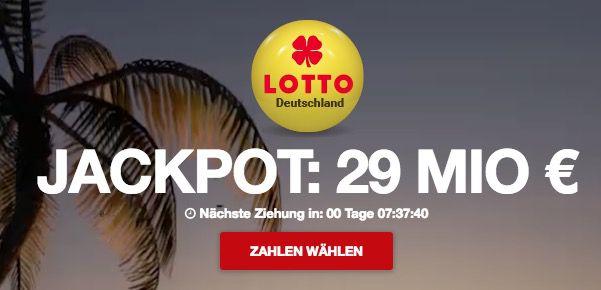 4 Lotto Felder 6aus49 (29 Mio € Jackpot) + 10 Rubbellose nur 1,99€ bei Lottopalace   nur Neukunden!