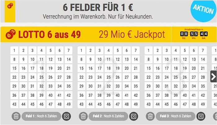 Bildschirmfoto 2017 01 21 um 10.04.14 TOP! 6 Lottofelder 6 aus 49 für nur 1€ (Jackpot 29 Mio.)   für Tipp24 Neukunden!