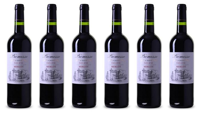12 Flaschen Merlot Pays dOc Rotwein für 35,88€