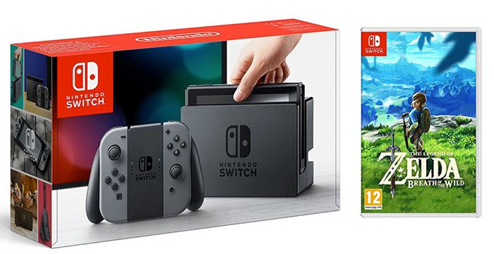 Nintendo Switch + The Legend of Zelda: Breath of the Wild für 368,35€ (statt 404€)