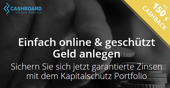 Cashboard Konto mit garantierten 2% Zinsen + bis zu 150€ Amazon.de Gutschein* + 100% Kapitalschutz   Bonus Deal!