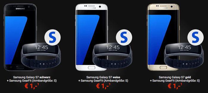 Galaxy S7 + GearFit für 1€ + Gear VR & Gear 360 für 99€ + Vodafone LTE Tarif mit 2GB für 39,99€ mtl.   junge Leute 6GB für 33,33€!