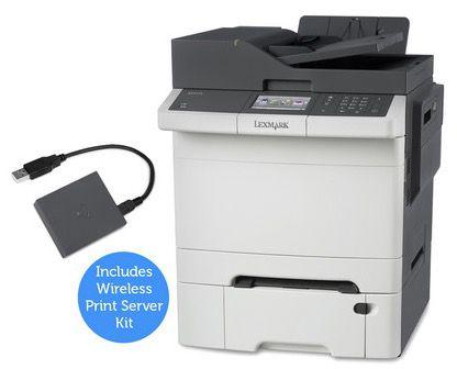 Lexmark CX410dte Multifunktions Farblaserdrucker + WLAN Druckserver für 308,90€ (statt 696€)