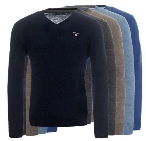 GANT Herren V Neck Pullover aus Merinowolle für 44,99€ (statt 60€)