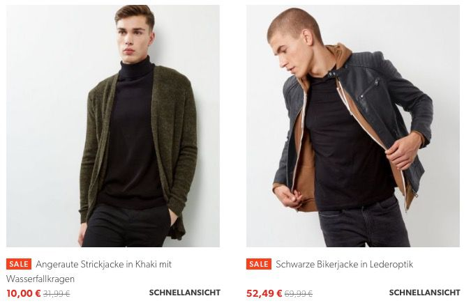 New Look Sale + 20% Gutschein + VSK frei ab 35€   z.B. Khakifarbener Parka für 34€