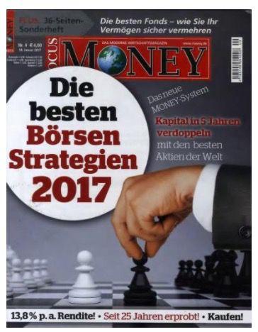 Focus Money Jahresabo für effektiv 93€ (sonst 193€)