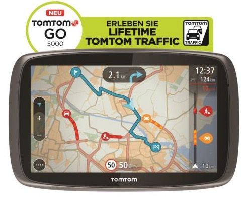 TomTom GO 5000 M Europa XXL HD Traffic + Free Lifetime 3D Map (refurb.) für 149,90€ (statt neu 239€)