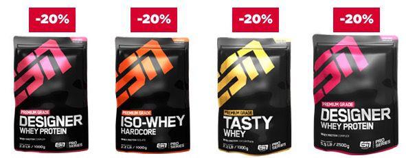20% Rabatt auf ESN Protein oder 15% auf Low Carb Produkte bei fitmart