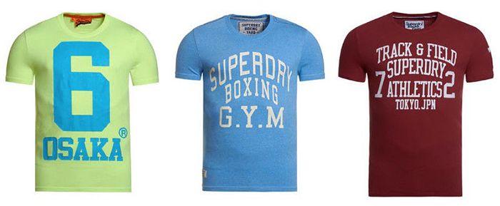 Superdry Herren T Shirts für je 13,95€