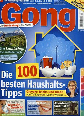 Jahresabo Gong für 109,20€ + 100€ Verrechnungsscheck & 6€ Rabatt bei Bankeinzug