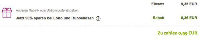 1 Feld Lotto 6 aus 49 (10 Mio. Jackpot!)  + 35 Rubbellose für 0,99€   nur Neukunden