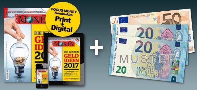 26 Ausgaben Focus Money für eff. 19,20€ dank 90€ Bargeldprämie