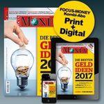 26 Ausgaben Focus Money für 109,20€ + 90€ Verrechnungsscheck
