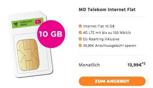 Telekom LTE Datentarife mit 4GB für 9,99€ mtl. oder 10GB für 13,99€ mtl.   auch Vodafone verfügbar!