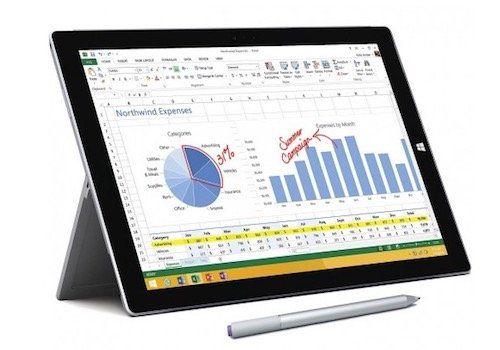 Microsoft Surface Pro 3   12 Zoll Tablet mit 256GB SSD für 666€ (statt 729€)